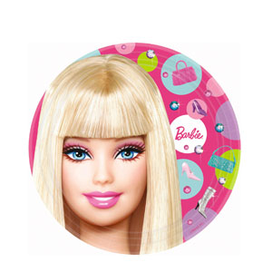Barbie 9 Inch Plates- 8ct