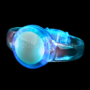 LED Sound Activated Circle Bracelet - Blue