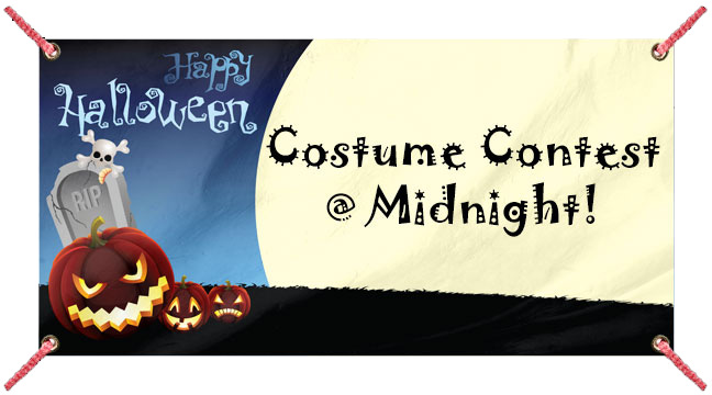 Happy Halloween and Pumpkins - Custom Banner