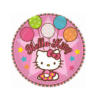 Hello Kitty Balloon Dreams 9 Inch Plates