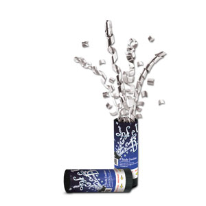 Silver Confetti Bursts - 24ct