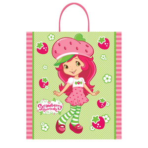 Strawberry Shortcake Plastic Handle Treat Bag- 16in