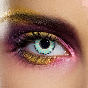 Novelty Contact Lenses - Glamour Aqua