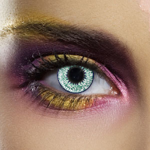 Novelty Contact Lenses - Aqua 2 Tone