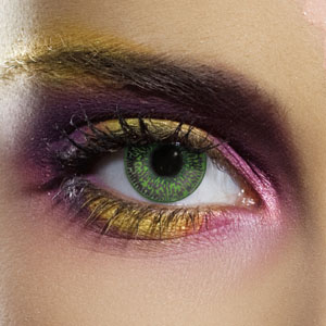 Novelty Contact Lenses - Green 2 Tone