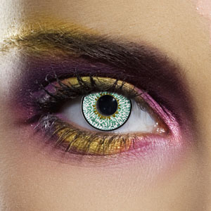 Novelty Contact Lenses - Aqua 3 Tone