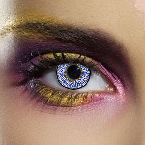 Novelty Contact Lenses - Dark Blue 3 Tone