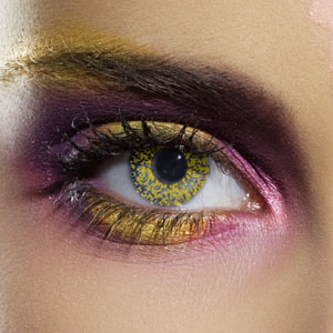 Novelty Contact Lenses - Gold Glimmer