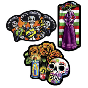 Day of the Dead Cutouts - 3ct
