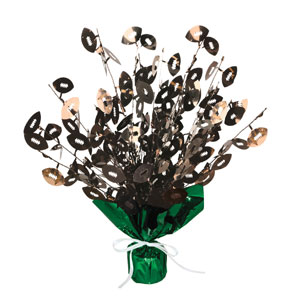 Football Gleam 'n Burst Centerpiece- 15in