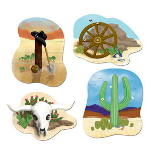 Western Cutouts- 4pc