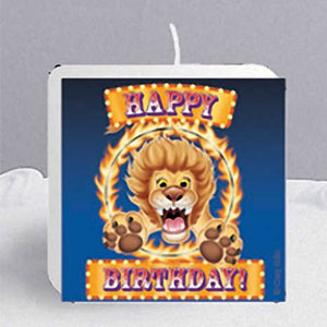 Big Top Birthday Printed Candle