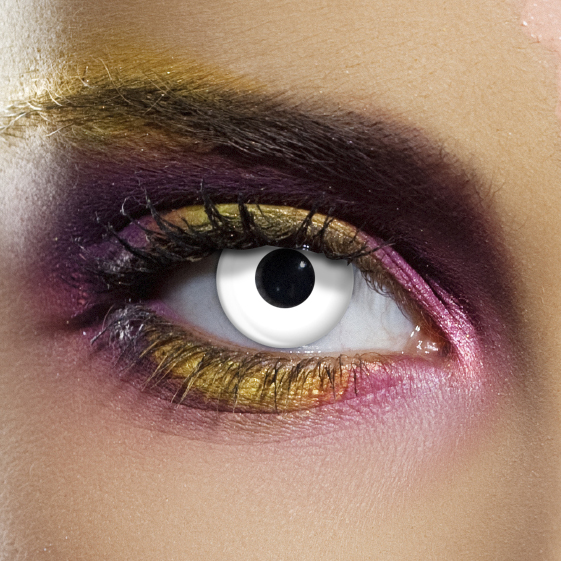 Crazy Halloween Contact Lenses - White Block