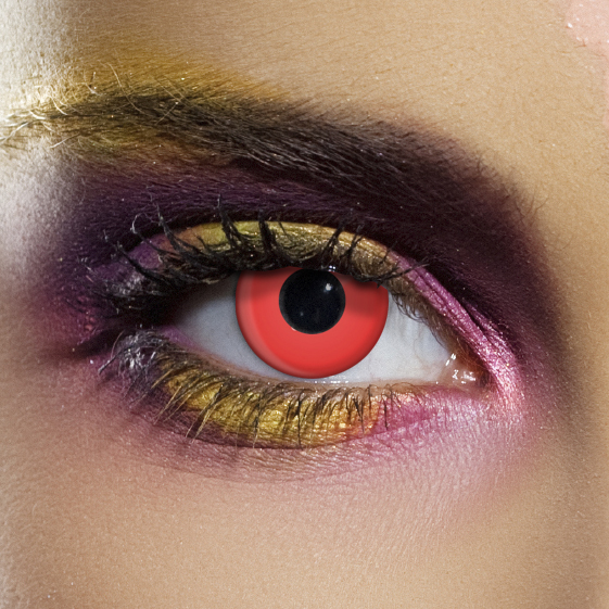Novelty Contact Lenses - Red Block