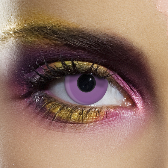 Novelty Contact Lenses - Violet Block