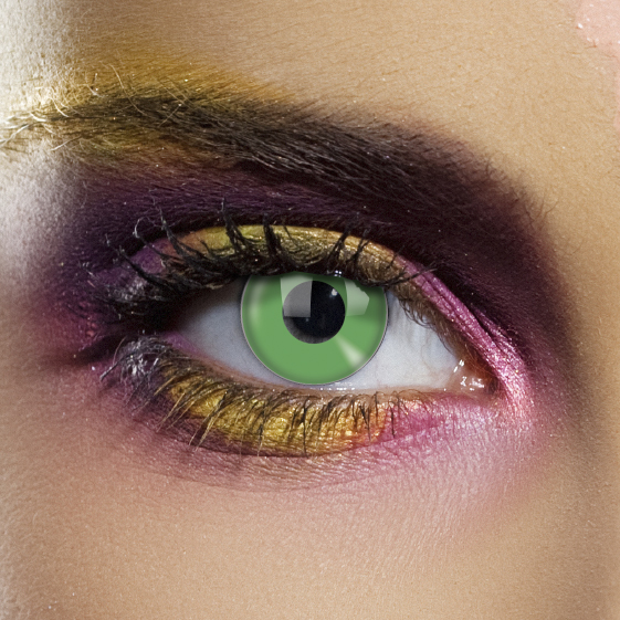Novelty Contact Lenses - Emerald Green Block
