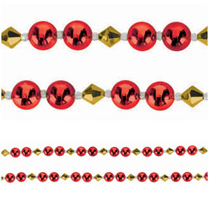 Gold & Red Bead Garland- 8ft
