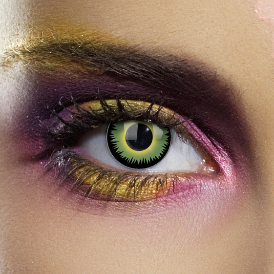 Novelty Contact Lenses - Green Werewolf