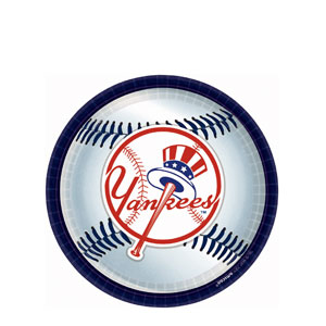 New York Yankees 9 Inch Plates- 18ct