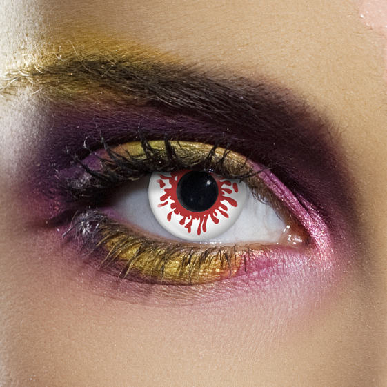 Novelty Contact Lenses - Blood Splat