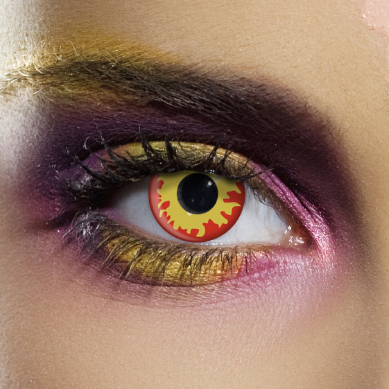 Novelty Contact Lenses - Flame