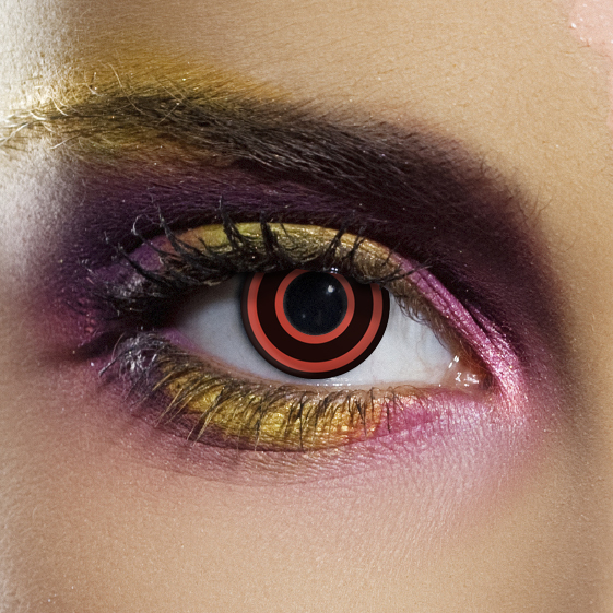 Crazy Halloween Contact Lenses - Bullseye