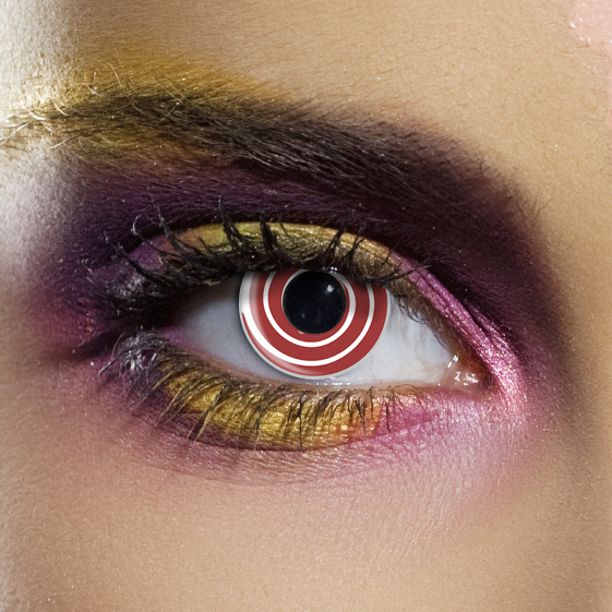 Crazy Halloween Contact Lenses - Red Spiral