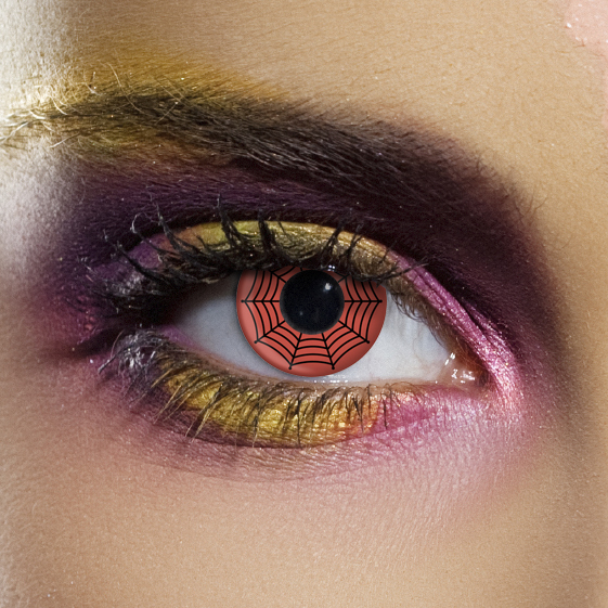 Novelty Contact Lenses - Red Web