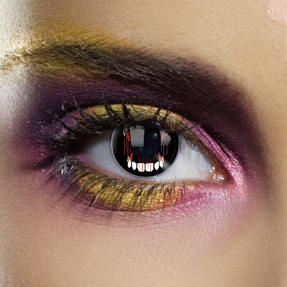 Crazy Halloween Contact Lenses - Fangs
