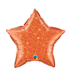 Orange Crystalgraphic Star Balloon - 20 inch
