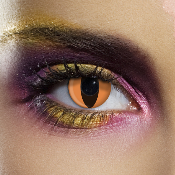 Novelty Contact Lenses - Orange Cat