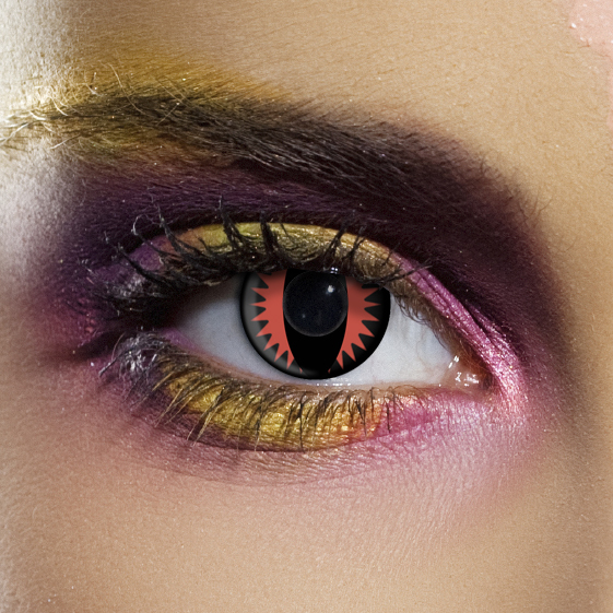 Novelty Contact Lenses - Fire Dragon
