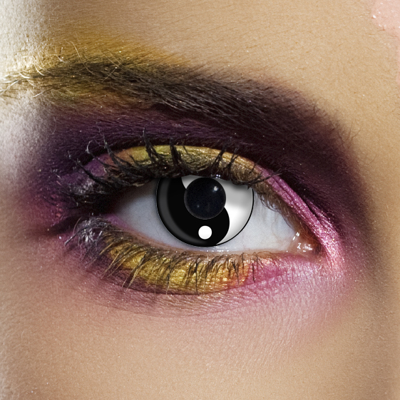 Crazy Halloween Contact Lenses - Ying Yang