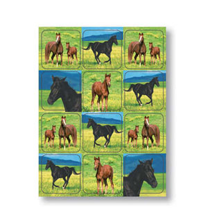 Wild Horses Value Sticker- 4ct