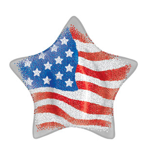 Patriotic Stars Balloon- 18in