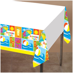 Summer Fun Plastic Tablecover