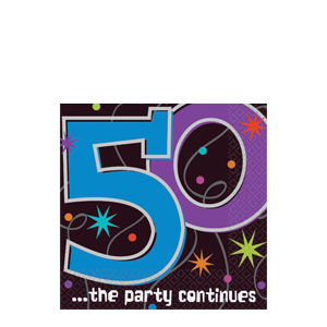 The Party Continues - 50 Beverage Napkins- 16ct