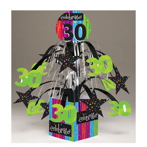 Celebrate 30 Centerpiece - Mini Foil