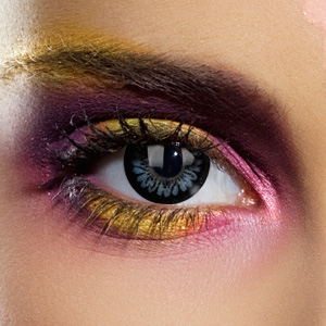 Novelty Contact Lenses - Dolly Black