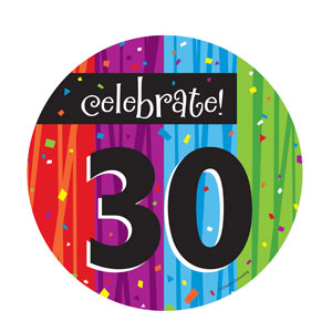 Celebrate 30 Luncheon Plates - 8ct