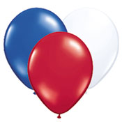 Red White Blue Latex Balloons - 12 Inch 72 Count