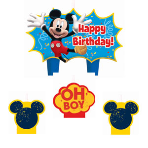 Mickey Mini Molded Cake Candles- 4ct
