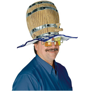 Plush Oktoberfest Barrel Hat - One Size