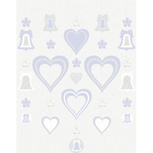 Glitter Hanging Decoration - Lavender Love 5ct