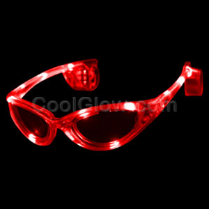 Fun Central I452 LED Light Up Sunglasses - Red