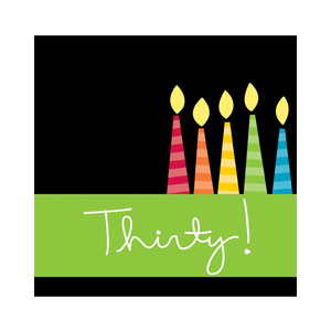 30 Candles Luncheon Napkin - 16ct