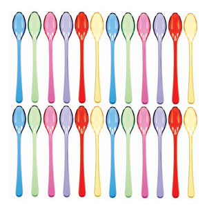 Cocktail Assorted Spoons- 20ct