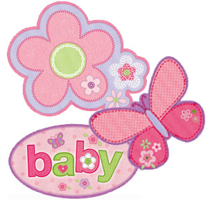 Carter's Baby Girl Cutout - 3ct