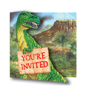Diggin' For Dinos Gatefold Invitations- 8ct