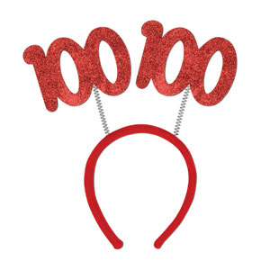 100 Glittered Boppers Red